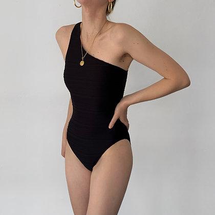 Vintage Ralph Lauren Noir One Shoulder Swimsuit