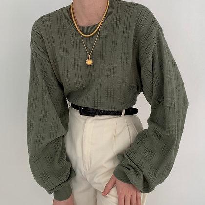 Deadstock Vintage Sage Textured Knit Sweater