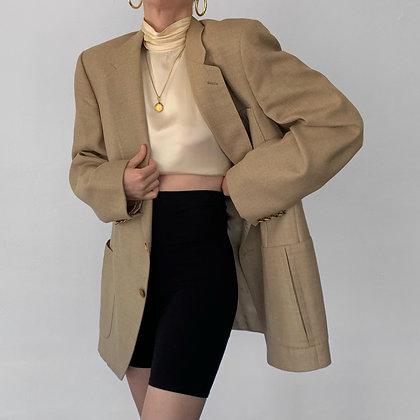Vintage Lanvin Ecru Blazer with Gold Buttons