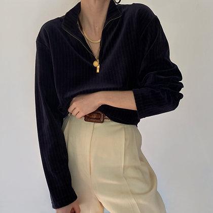 Vintage Midnight Velvet Half Zip Pullover