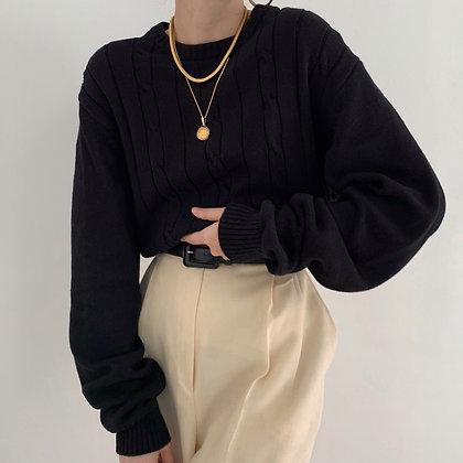 Vintage Oscar de la Renta Noir Knit Sweater