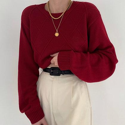 Vintage Izod Ruby Diamond Knit Sweater