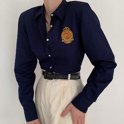 Vintage Ralph Lauren Midnight Crest Blouse