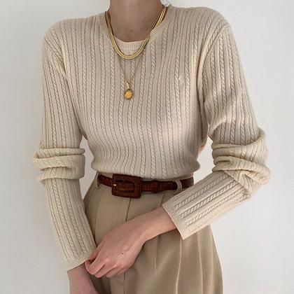 Vintage Ralph Lauren Cream Knit Sweater