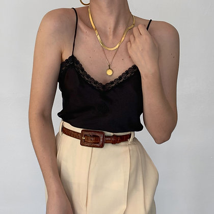 Vintage Christian Dior Noir Signet Camisole