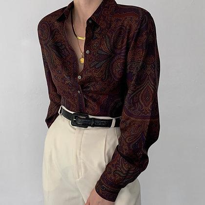 Vintage Ralph Lauren Paisley Silk Button Up