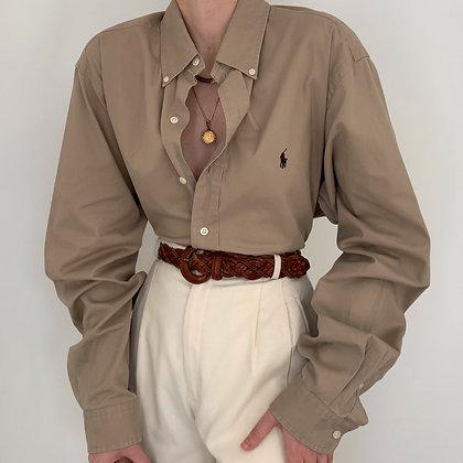Vintage Ralph Lauren Sand Button Up Blouse