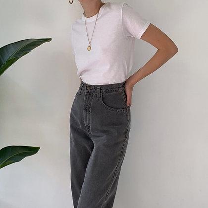Vintage Slate Gray High-Waisted Jeans (26W)