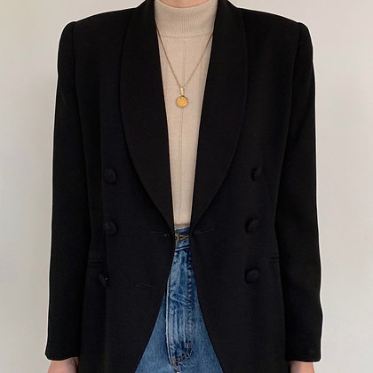 Vintage Black Double-Breasted Blazer