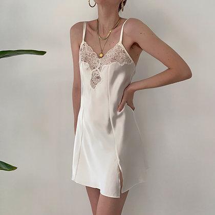 Vintage VS Snow Satin Slip Dress