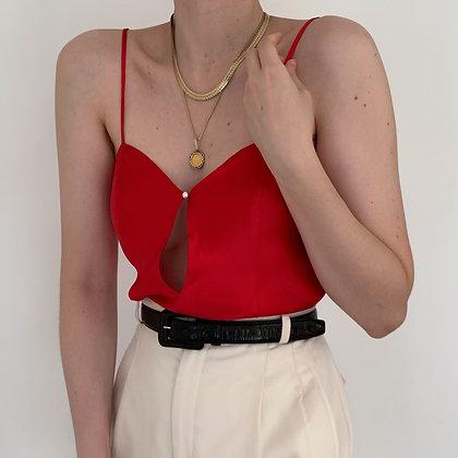 Vintage Victoria's Secret Ruby Silk Camisole
