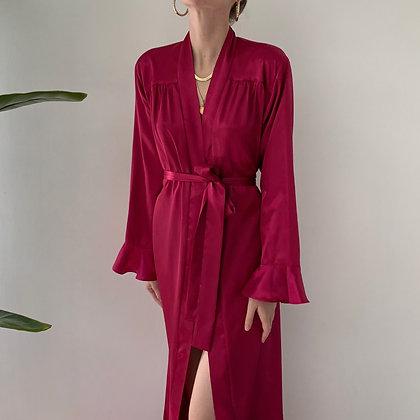 Vintage Oscar de la Renta Berry Satin Gown