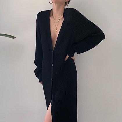 Favorite Rare Vintage Noir Silk Knit Duster