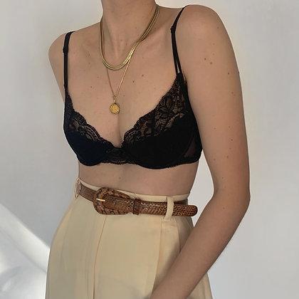 Vintage La Perla Noir Balconette Bra