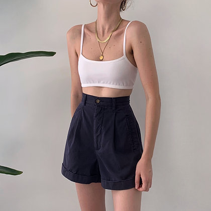 Vintage Navy High-Waisted Shorts (25W)