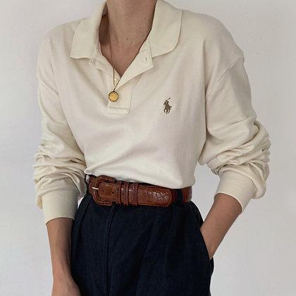 Vintage Ralph Lauren Ivory Knit Polo