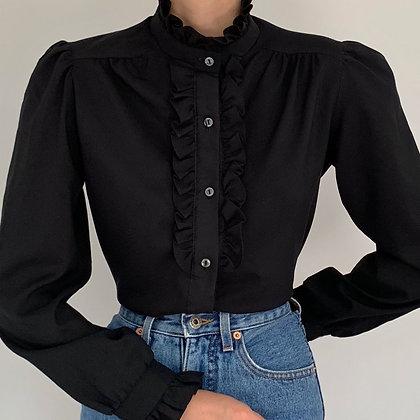 Vintage Black Edwardian Blouse