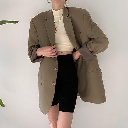 Vintage Ralph Lauren Taupe Wool Blazer