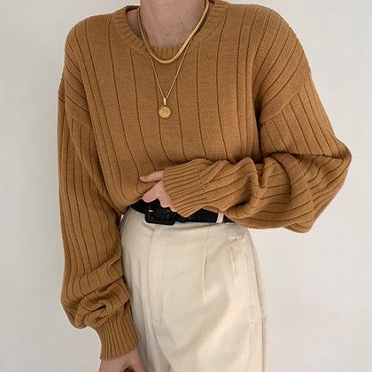 Vintage Oscar de la Renta Caramel Sweater