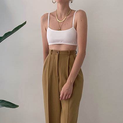 Vintage Camel High-Waisted Trousers (25W)
