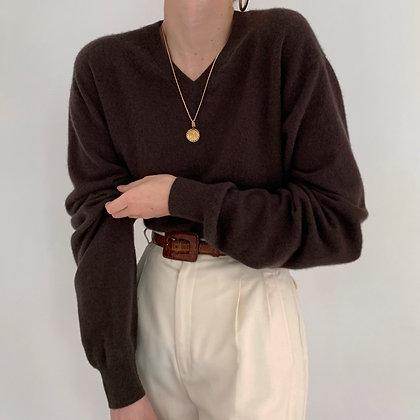 Vintage Espresso Cashmere Sweater