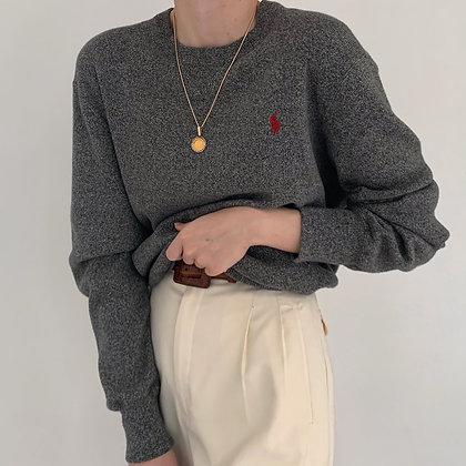 Vintage Ralph Lauren Charcoal Knit Pullover