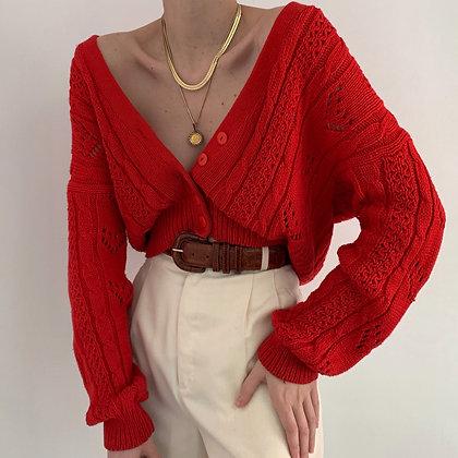 Favorite Vintage Poppy Knit Cardigan