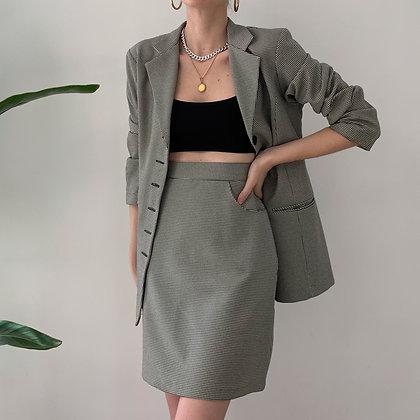 Favorite Vintage Houndstooth Skirt Suit