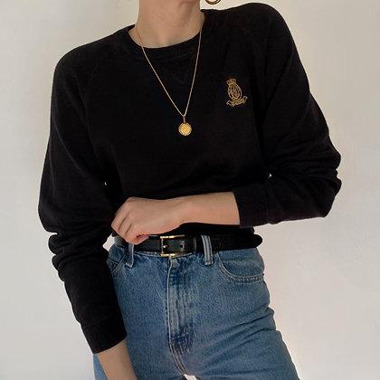 Vintage Ralph Lauren Onyx Crest Knit Pullover