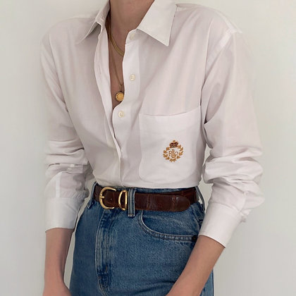 Vintage Ralph Lauren Crest Pocket Blouse