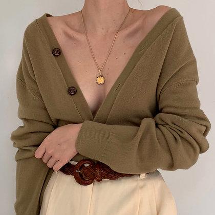 Vintage Sage Knit Cardigan