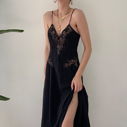 Vintage Dior Onyx Lacy Gown