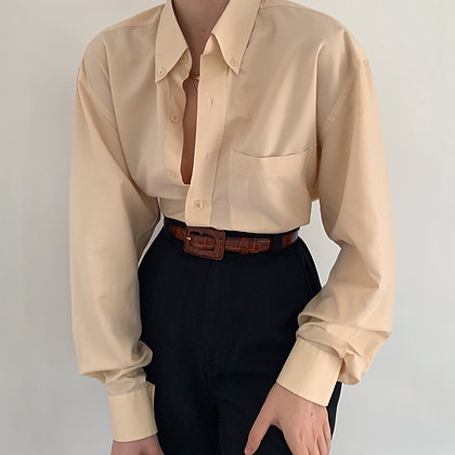 Vintage Dior Peach Button Up Pocket Blouse
