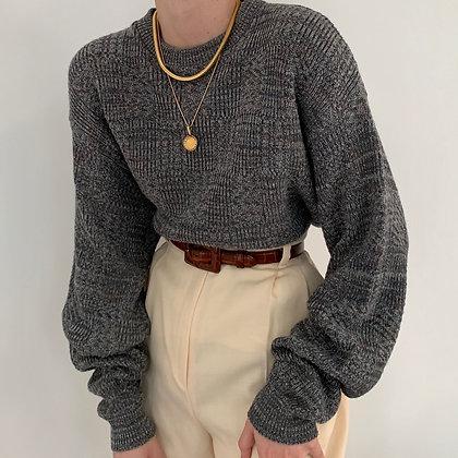 Vintage Oscar de la Renta Smoke Knit Sweater