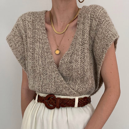 Vintage Christian Dior Oatmeal Knit Top