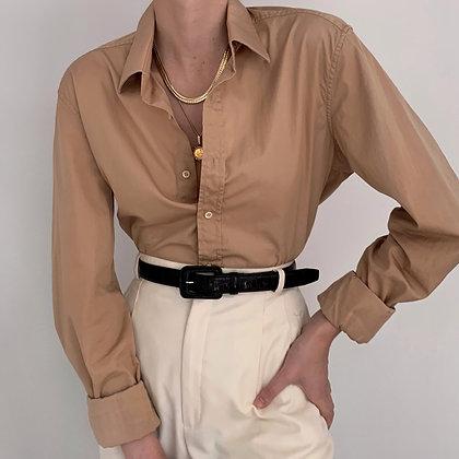 Gucci Camel Button Up Blouse