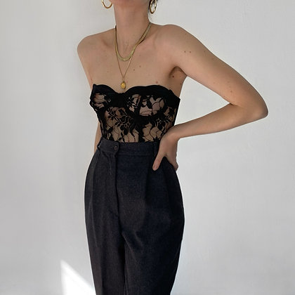 Rare Vintage Valentino Charcoal Trousers (27W)