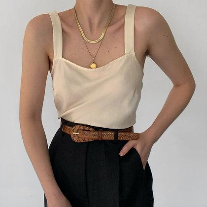 Vintage Pearl Silk Charmeuse Camisole