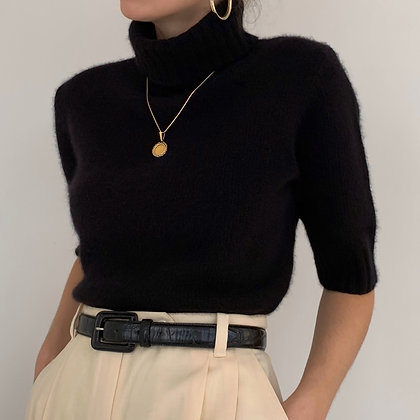 Vintage Ralph Lauren Black Knit Turtleneck
