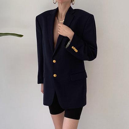 Vintage Ralph Lauren Midnight Wool Blazer