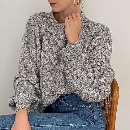 Vintage Heather Gray Knit Sweater