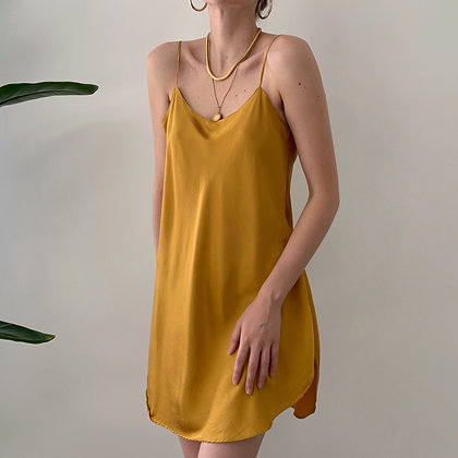 Vintage VS Turmeric Silk Slip Dress