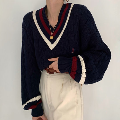 Vintage Izod Varsity Cable Knit Sweater