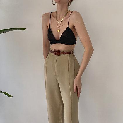 Italian Vintage Camel Trousers (26W)
