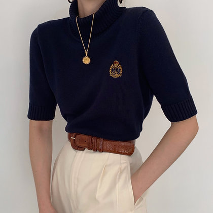 Vintage Ralph Lauren Midnight Crest Turtleneck