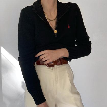 Vintage Ralph Lauren Noir Half Zip Sweater