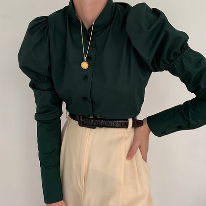 Deadstock Vintage Pine Juliet Sleeve Blouse