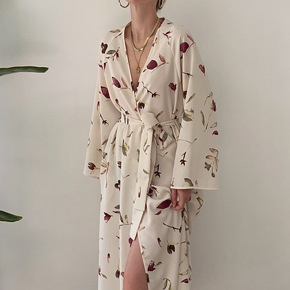 Vintage Valentino Floral Robe Gown