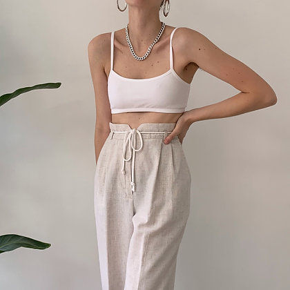 Vintage Oat High-Waisted Trousers (26W)