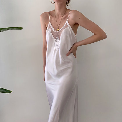 Vintage Dior Snow Satin Gown